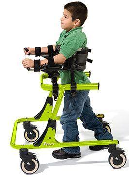 Andador para niño Pacer.  Andador de entrenamiento para niño Parcer de Rifton. amplia gama de posibilidades, facilidad de ajuste: plegable, ligero, estructura reversible, frenos ajustables, control del movimiento, ruedas direccionales.