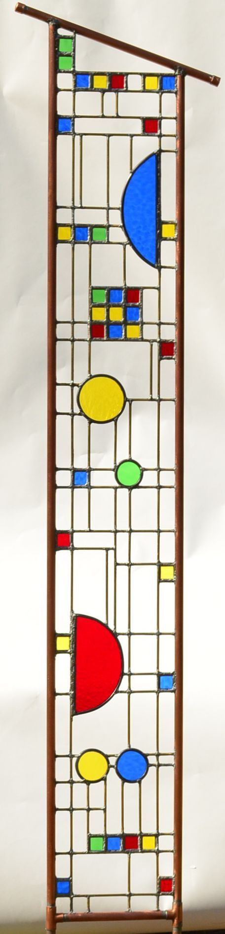 Large Garden Sculpture - Custom Stained Glass Art in the Arts and Crafts Style