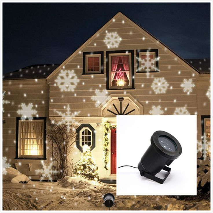 Wasserdichte Moving Schnee Laser Projektor Lampen Schneeflocke LED Bühne Licht Für Weihnachten Party Landschaft Licht Garten Lampe Außen