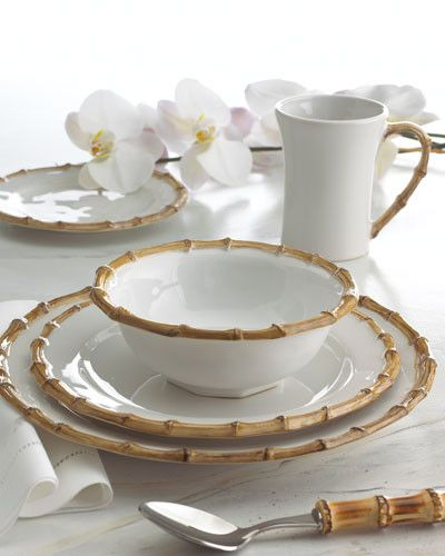 This is one of my favorites on A Mano: Dinnerware - Classic Bamboo Collection