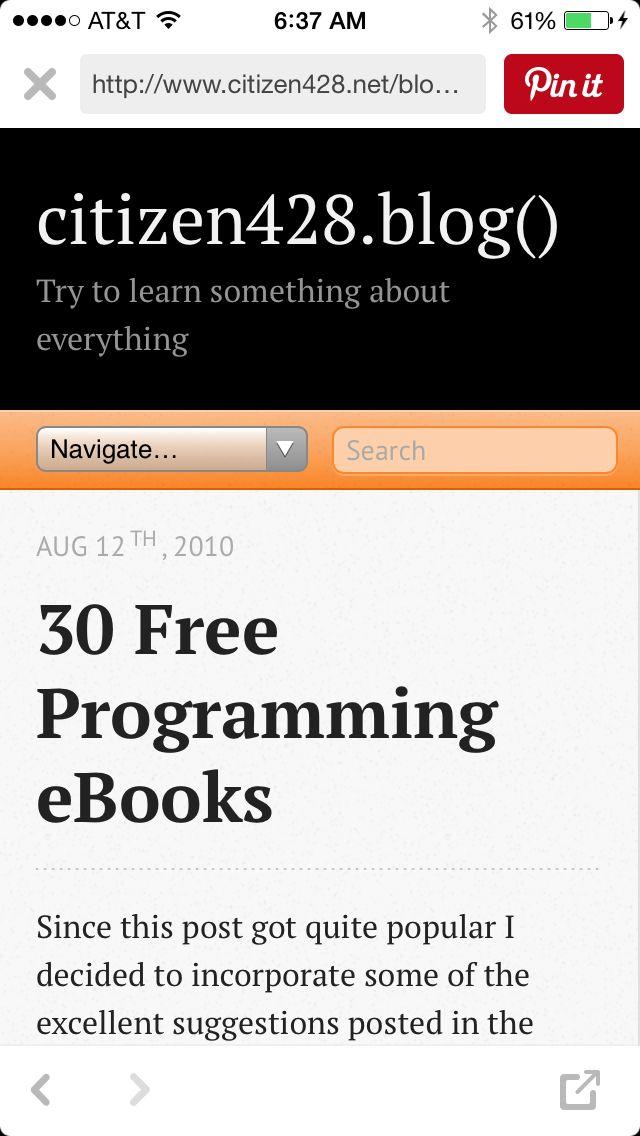 30 Free Programming eBooks