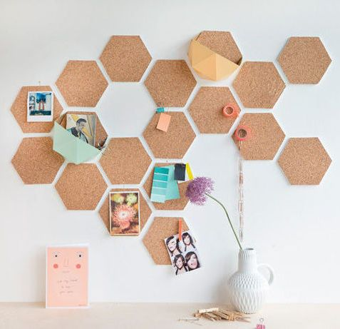 #DIY hexagon / honeycomb cork #pinboard
