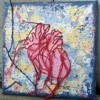 http://www.tafalist.com/members/peaceofpi-studio    Embroidered heart textile by peaceofpi studio.