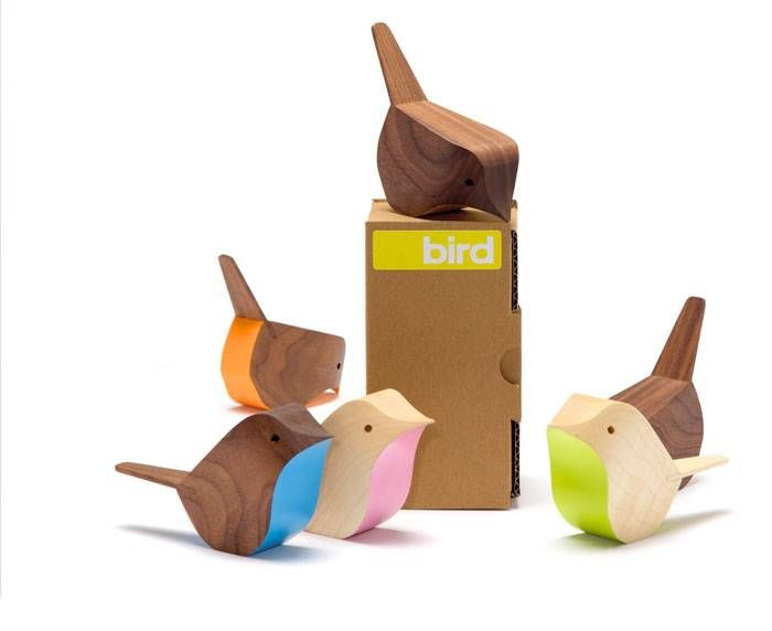 Birds and Box by Jacob Pugh  Colour + wood