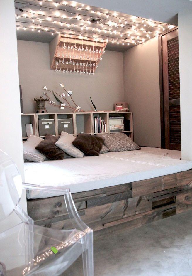 Cool bedroom lighting idea