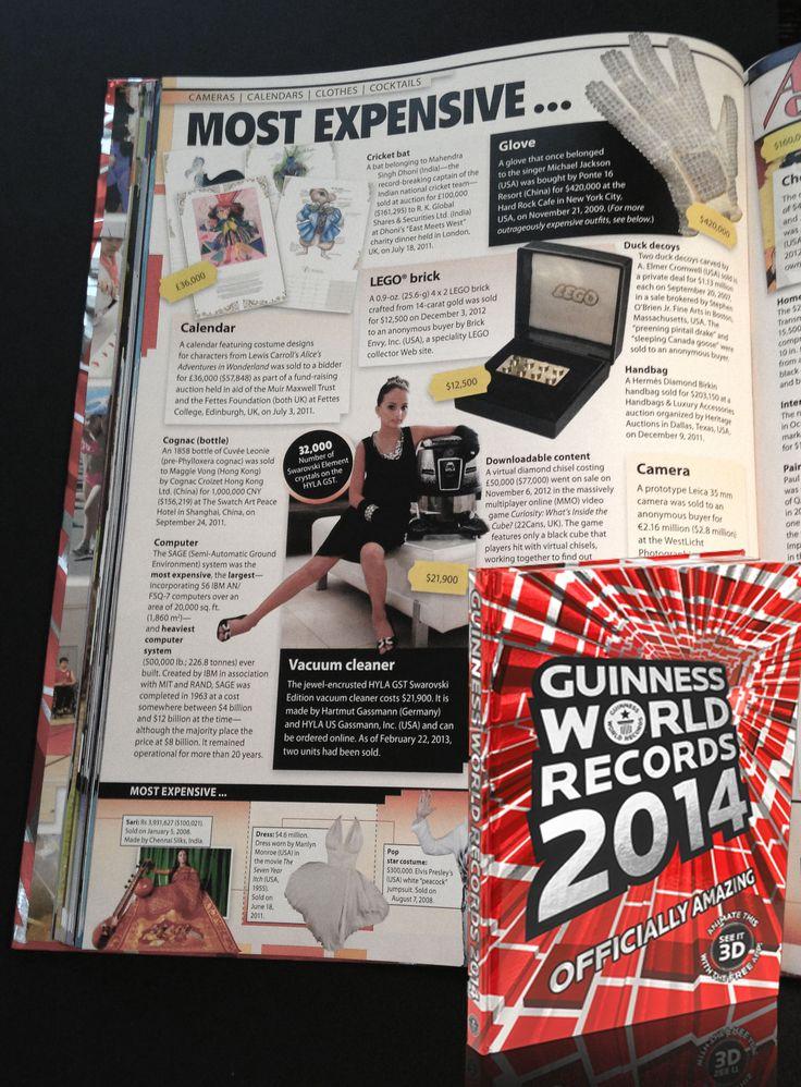 Swarovski HYLA 2014 Guinness World Records