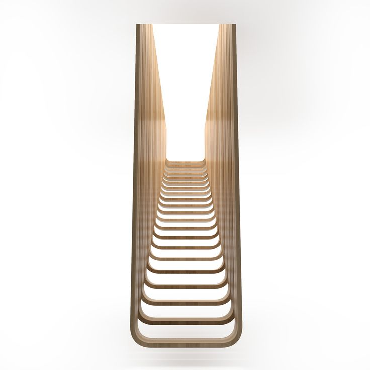 Деревянная подвесная лестница Ф2