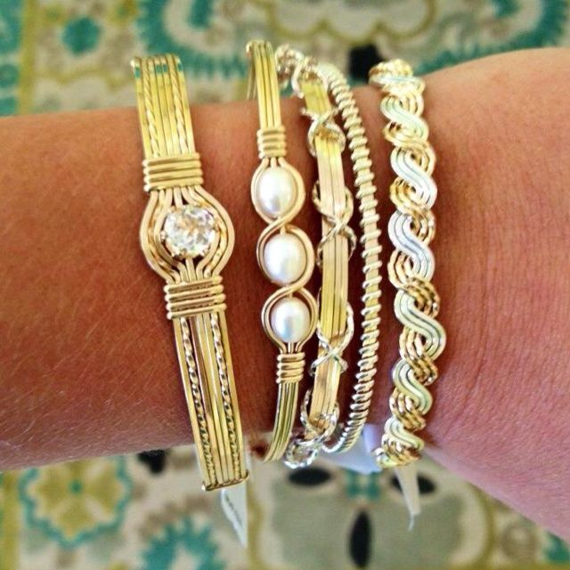 Ronaldo bracelets...would love to have them all http://www.justtrendygirls.com/stackable-bangle-bracelets-for-woman/
