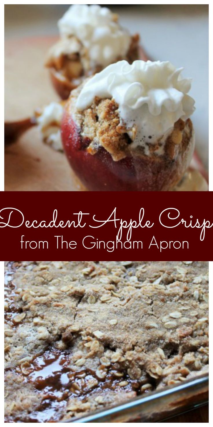 Two ways to make this delicious  and easy apple crisp. Perfect for fall!