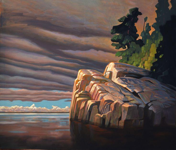 Terry Watkinson, 'Sunlit Cliffs' at Mayberry Fine Art 42 x 36 (2011)
