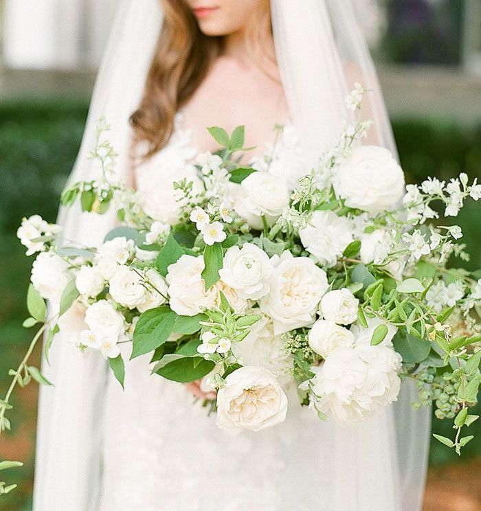 Vogue Worthy Wedding With Greenery And White Flowers Neutral