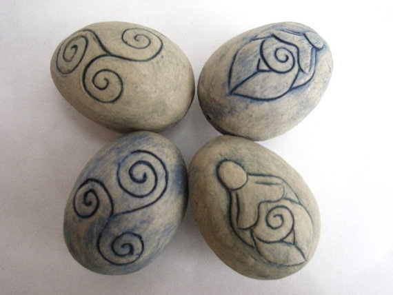 Magickal Ritual Sacred Tools: Egg Rattles.