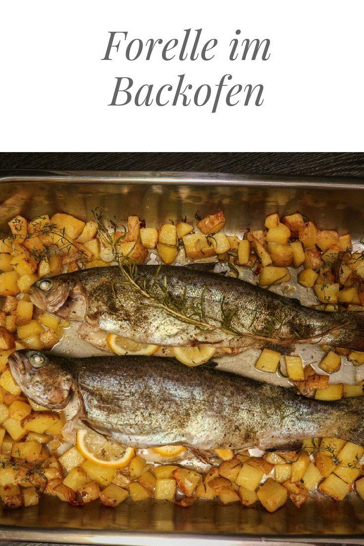 Forelle im Backofen. Heimischer Fisch vom Feinsten! #forelle #fisch #fish #patat…