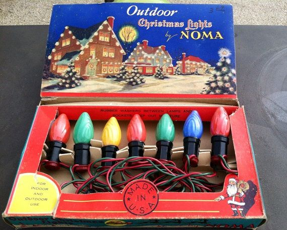 Vintage Outdoor Christmas Lights by Noma Old Fashioned Christmas Lights Big Bulbs & 344 best Christmas Tree Strings images on Pinterest | Vintage ...