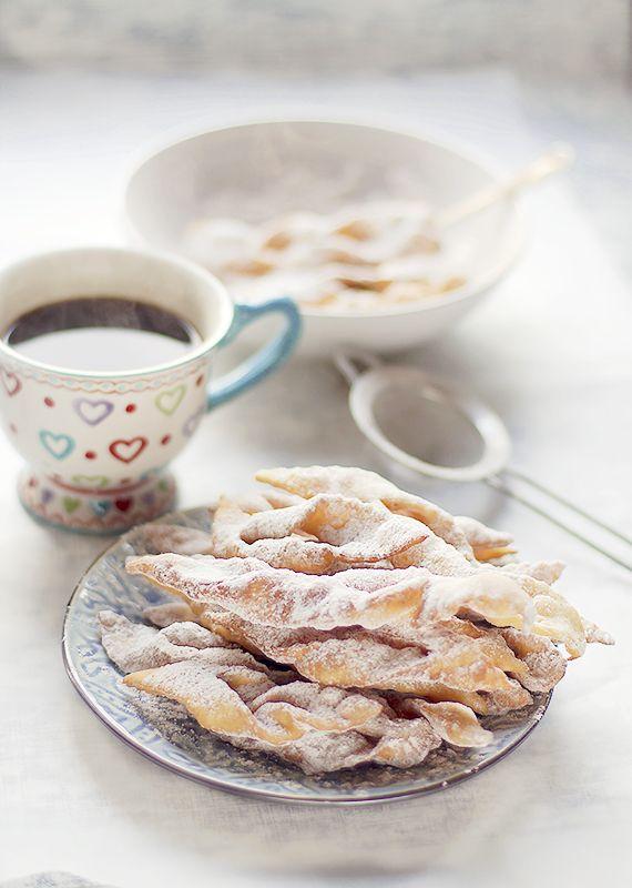 Polish fried cookies called faworki