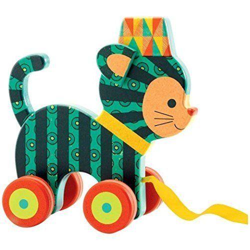 Amazon.com: Djeco Neko Pull Toy by Djeco: Toys & Games