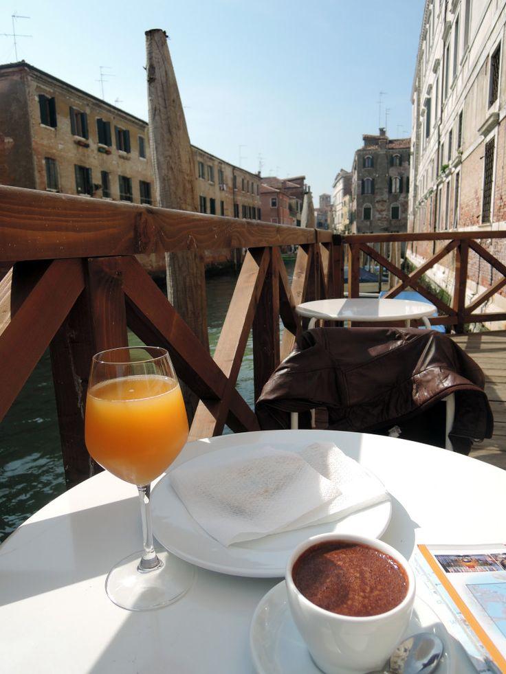 Enjoying a light lunch at We Crociferi, Venice, Italy