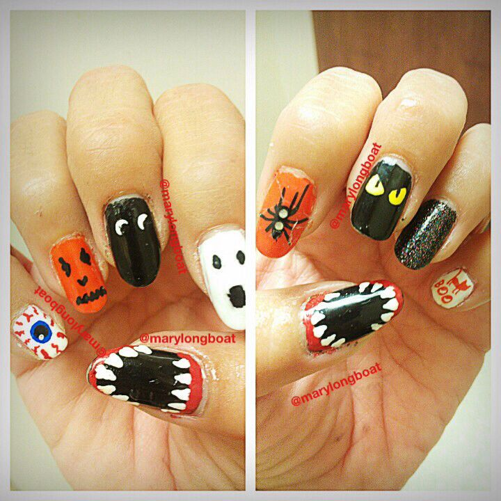 117 best halloween nails images on pinterest nail scissors halloween nail art 2013 prinsesfo Choice Image