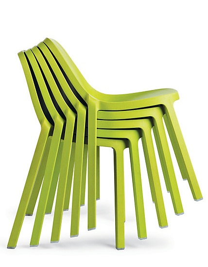 The Broom Chair, designed by Philippe Starck, stacks 6 high.: Wood Fiber, Philippe Starck, Chairs, Green, Furniture, Products, Design