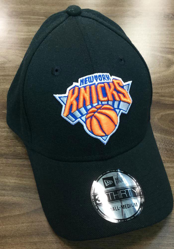 a1eef387f473f New Era New York Knicks Mens Black Team Classic 39THIRTY Flex Hat ...