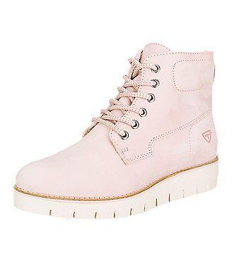 Pastell-Farben lassen sich auch im Winter gerne sehen! So wie diese Tamaris Stiefelette für Damen im Worker Boots-Style aus Echt-Leder. Auf www.mirapodo.de | Artikelnummer 4344489
