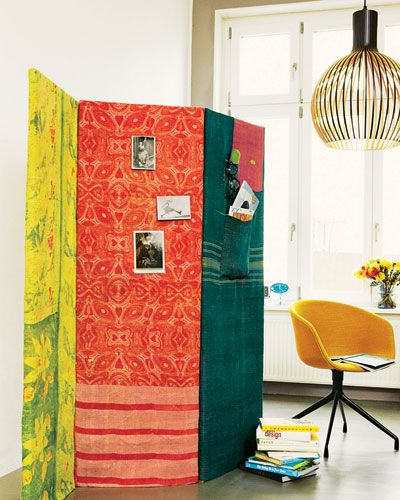 How To Make A Room Divider Screen With Fabric