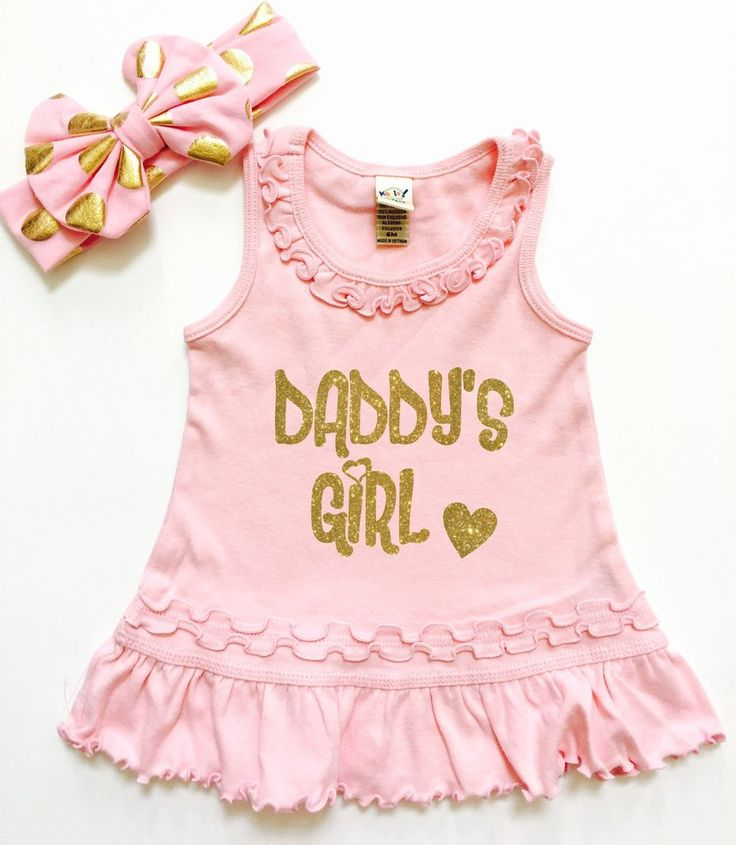 """Daddy's Girl"" Baby Dress. So cute for a new father of a baby girl or even a little girl of any age! She will always be Daddy's Girl!"
