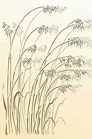 Grass Stencils Wild Oats Stencil Wild Grasses Wild Oats