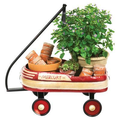 Cape Craftsmen Vintage Oval Wheelbarrow Planter