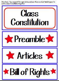 Teach123 - Tips for Teachers: Discipline Tips & the Constitution