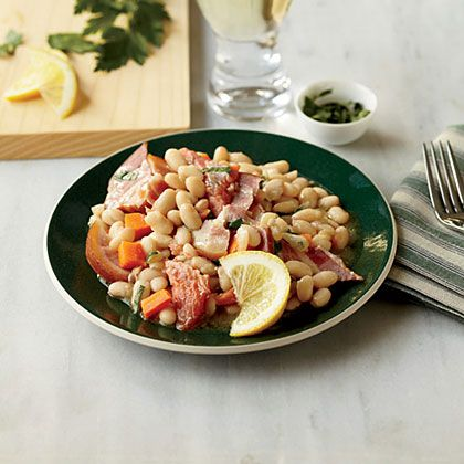 Warm White Bean Salad with Smoked Trout | MyRecipes