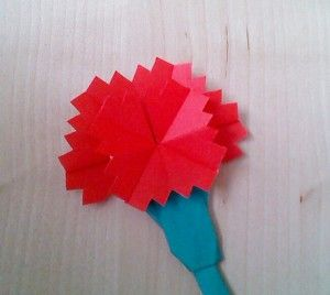 母の日 カーネーション 折り紙平面