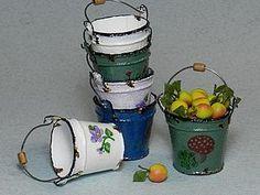 how to: faux enamel buckets