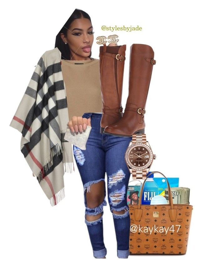 """""""Perfect fall look"""" by stylesbyjade ❤ liked on Polyvore featuring Topshop, Naturalizer, Burberry, Rolex, Chanel, men's fashion and menswear"""