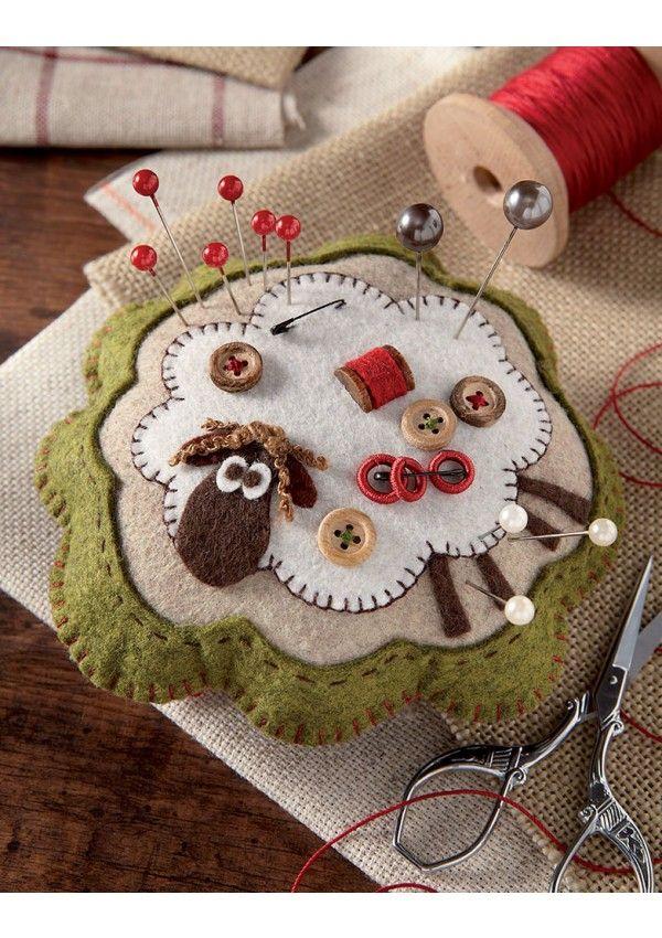 Coussin pique-aiguilles - Sheep pin cushion pattern
