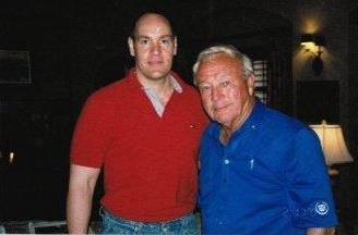 Golf icon Arnold Palmer (right) and Jerry Gladstone  http://www.JerryGladstone.com