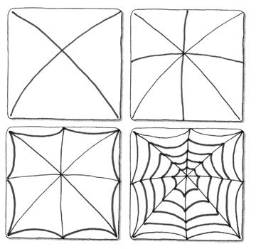 Spinnenweb tekenen