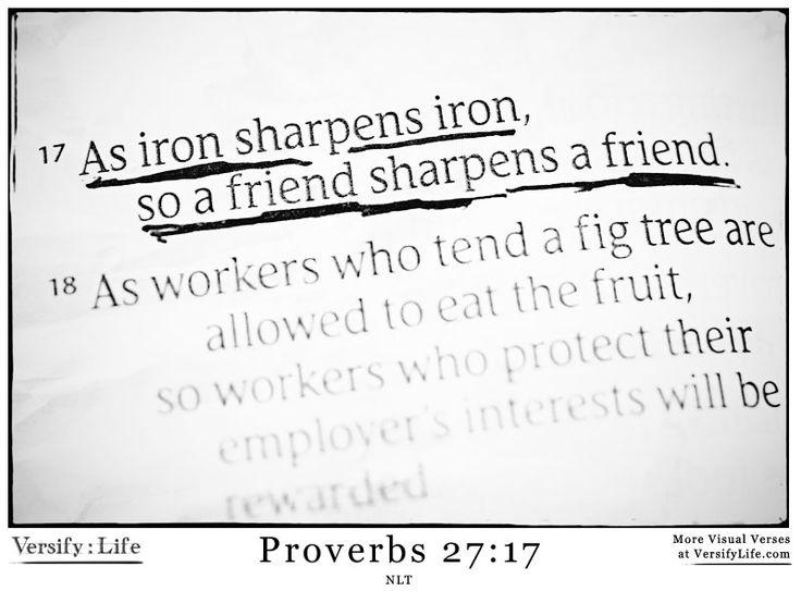 Bible Study: Iron Sharpens Iron - YouTube