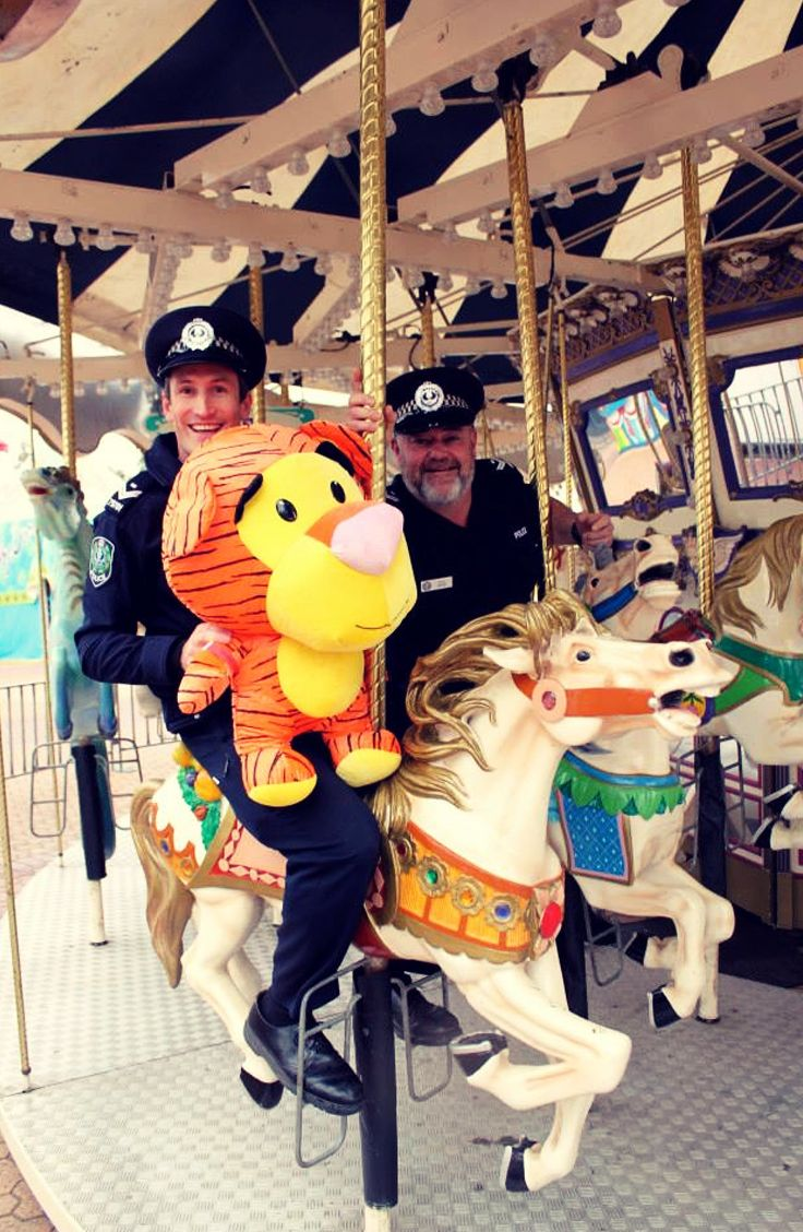 Horsing around at the Royal Adelaide Show, 2013. #police #Adelaide