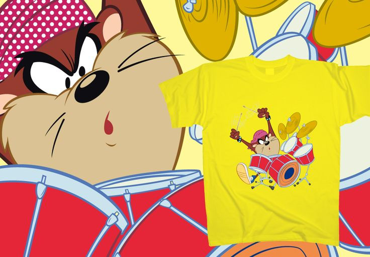 Taz - The Drummer  http://www.toonshirts.com/products/looney-tunes/143-taz-the-drummer