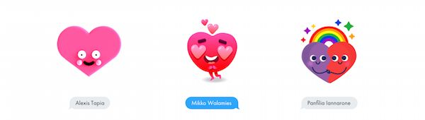Free Adorable Heart Emoticons Animated Stickers For Spreading The Love