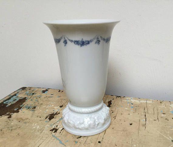 Vintage Rosenthal vase with Blue guirlande made in Germany