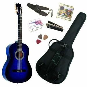 Pack Guitare Classique 3/4 (8-13ans) Pour Enfant Avec 6 Accessoires (bleue) - Pack GUITARE Classique 3/4 pour Enfant & Accessoires / Son et manufactur