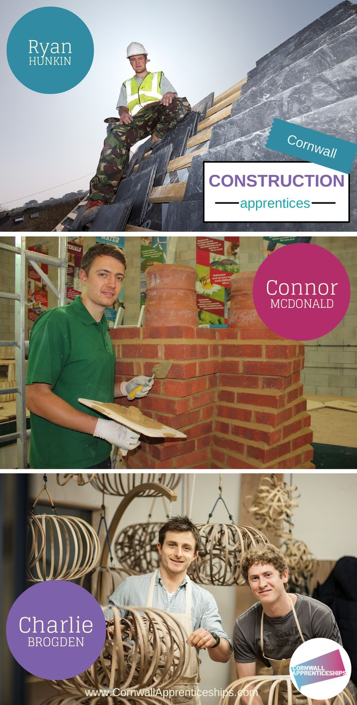 Construction apprentices in Cornwall, enjoying their apprenticeships.