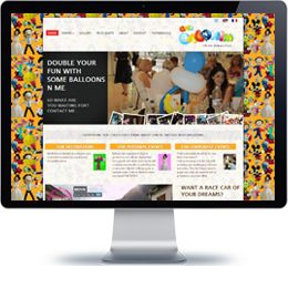 Effi Balonim Company website built with Wordpress.