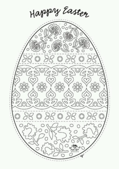 Noa Noa Easter egg - for coulering.... Found it on the Noa Noa Facebook page. Nice. :-)