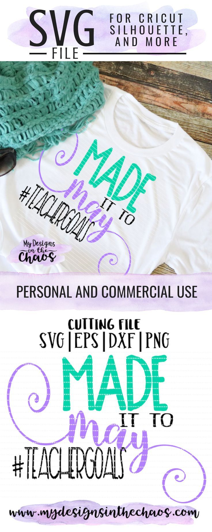 Use this downloadable Last Day of School SVG file to make a t-shirt as a teachers gift to celebrate the end of the school year and summer vacation. It is perfect for your Silhouette or  Cricut cutting machine. | Made It to May