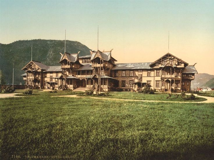 PHOTOGRAPHY HOTEL DALEN NORWAY TELEMARK ARCHITECTURE ART PRINT POSTER  BB9026