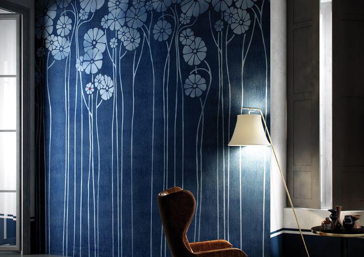 "Wallcovering Natural Surfaces: ""Daisy Blue"" by Glamora"
