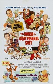 The Horse in the Gray Flannel Suit poster 1968.
